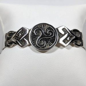 Celtic Silver Cuff Bracelet